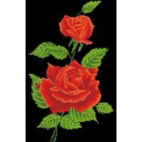 Red Rose Corsage Diamond Dotz 27x42 cm