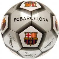 Bal barcelona leer groot zilver handtekeningen