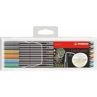 Viltstiften Stabilo pen 68 etui: 6 stuks