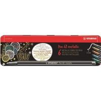 Viltstiften Stabilo pen 68 metalen doos: 6 stuks