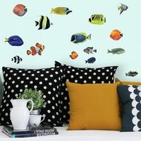 Muursticker RoomMates Tropical fish
