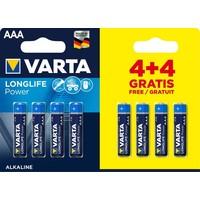 Batterijen Varta Longlife Alkaline AAA: 8 stuks