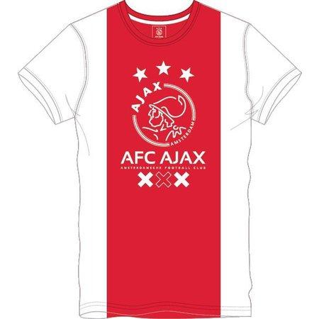 AJAX Amsterdam T-shirt Ajax wit/rood/wit AFC XXX maat S