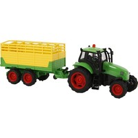 Kids Globe Auto pb Kids Globe tractor aanhanger + licht/geluid