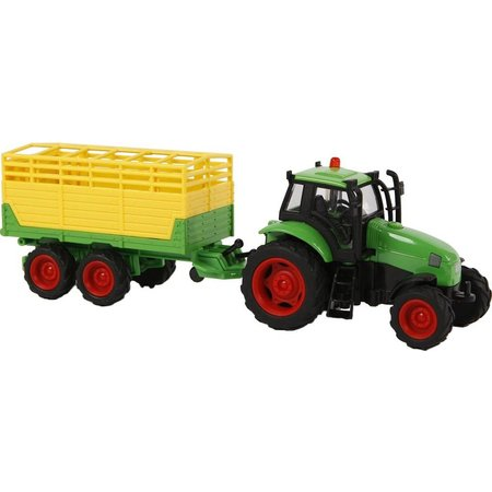 Kids Globe Auto pb Kids Globe tractor aanhanger + licht/geluid (510653)