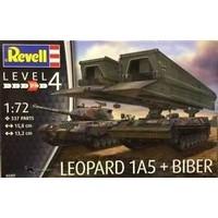 Leopard 1A5 + Bridgelayer Biber Revell: schaal 1:72