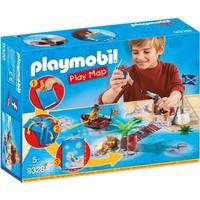 Piraten met plattegrond Playmobil
