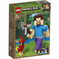 BigFig Steve met papegaai Lego