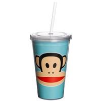 Drinkbeker 500 ml + rietje blauw Paul Frank