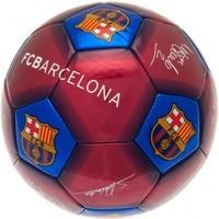 Bal barcelona leer groot blauw/rood handtekeningen