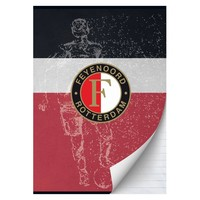 Schrift Feyenoord zwart/wit/rood A4 gelijnd