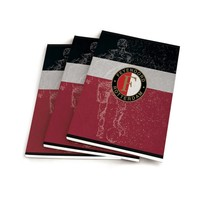 Schrift Feyenoord zwart/wit/rood A5 gelijnd: 3-pack