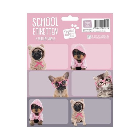 Non-License Etiketten Studio Pets: 18 stuks (314040)