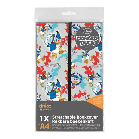 Donald Duck Boekenkaft rekbaar Dresz A4: Donald Duck (316082)
