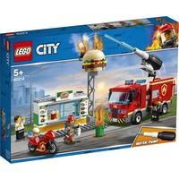 Brand bij het hamburger restaurant Lego