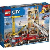 Brandweerkazerne in de stad Lego