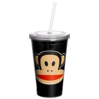 Drinkbeker 500 ml + rietje zwart Paul Frank
