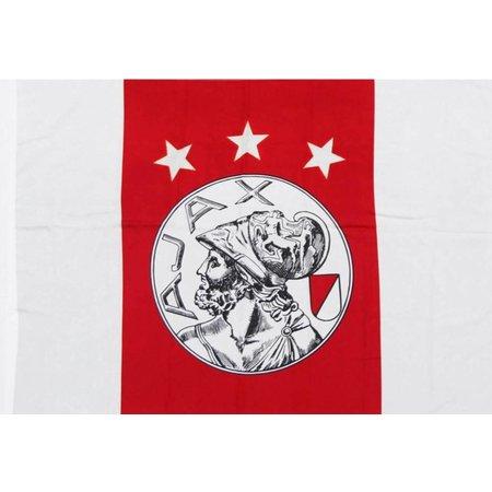 AJAX Amsterdam Vlag Ajax reus 150x225 cm rood/wit oude logo