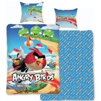 Dekbedovertrek Angry Birds beach 140 x 200 cm