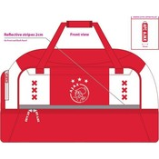 Sporttas met schoenenvak Ajax wit/rood/wit xxx