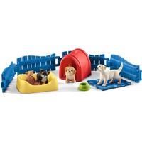 Schleich Honden puppy kamer 42480 - Speelfigurenset - Farm World - 15 x 14 x 5,0 cm