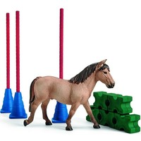 Schleich Slalomparkour met pony 42483 - Paard Speelfigurenset - Farm World - 10 x 25 x 14 cm