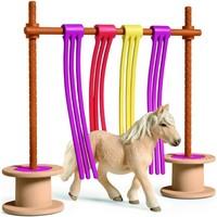 Schleich Pony obstakel gordijn 42484 - Paard Speelfigurenset - Farm World - 16 x 17 x 14 cm