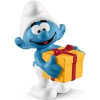Schleich Smurf met cadeau 20816 - Speelfiguur  - De Smurfen - 3,4 x 4,2 x 5,6 cm