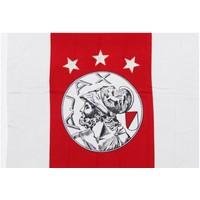 Vlag ajax groot 100x150 cm rood/wit oude logo