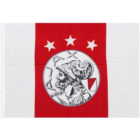 AJAX Amsterdam Vlag ajax groot 100x150 cm rood/wit oude logo