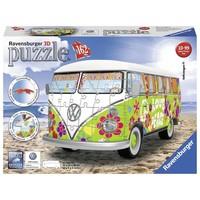 Puzzel Volkswagen bus Hippie style 3d: 162 stukjes
