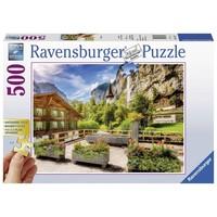 Puzzel Lauterbrunnen: 500 stukjes
