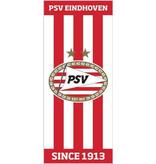 PSV Eindhoven Badlaken psv rood/wit gestreep 75x150 cm