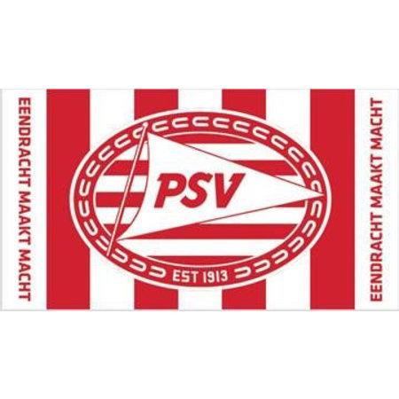 PSV Eindhoven Handdoek psv rood/wit gestreept 50x100 cm