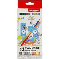 Twin points Bruynzeel: 12 stuks kleurpotloden