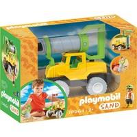 Vrachtwagen met zandboor Playmobil