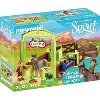 Knip en Meneer Worteltjes met paardenbox Playmobil