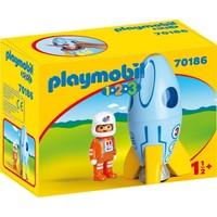 1.2.3. Astronaut met raket Playmobil