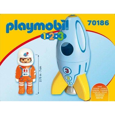 Playmobil 1.2.3. Astronaut met raket Playmobil