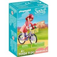 Maricela met fiets Playmobil