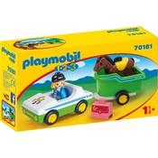 1.2.3. Wagen met paardentrailer Playmobil