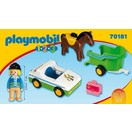 Playmobil 1.2.3. Wagen met paardentrailer Playmobil