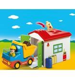 Playmobil 1.2.3. Werkman met sorteer-garage Playmobil