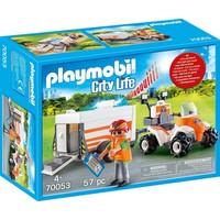 Eerste hulp quad met trailer Playmobil