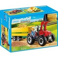 Grote tractor met aanhangwagen Playmobil
