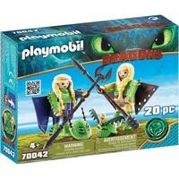 Schorrie en Morrie in vliegpak Playmobil