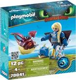 Playmobil Astrid in vliegpak en Schrokop Playmobil
