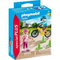 Kinderen met fiets en skates Playmobil