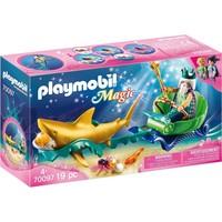 Koning der zeeen met haaienkoets Playmobil