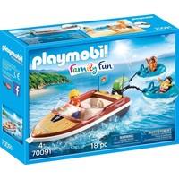 Motorboot met funtubes Playmobil